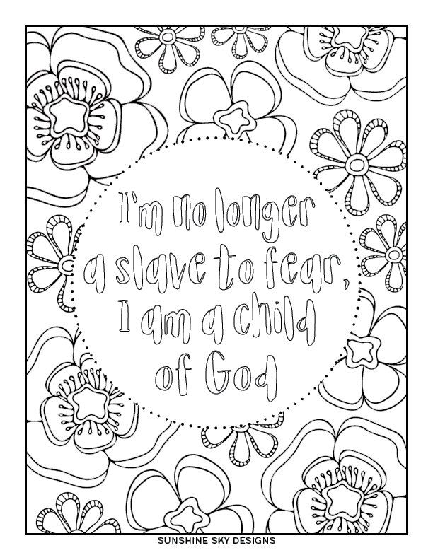 Coloring Page / Child of God / Printable / Instant Digital
