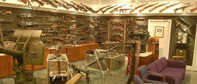 Man Cave Bar Ideas  This is a gun enthusiasts ultimate