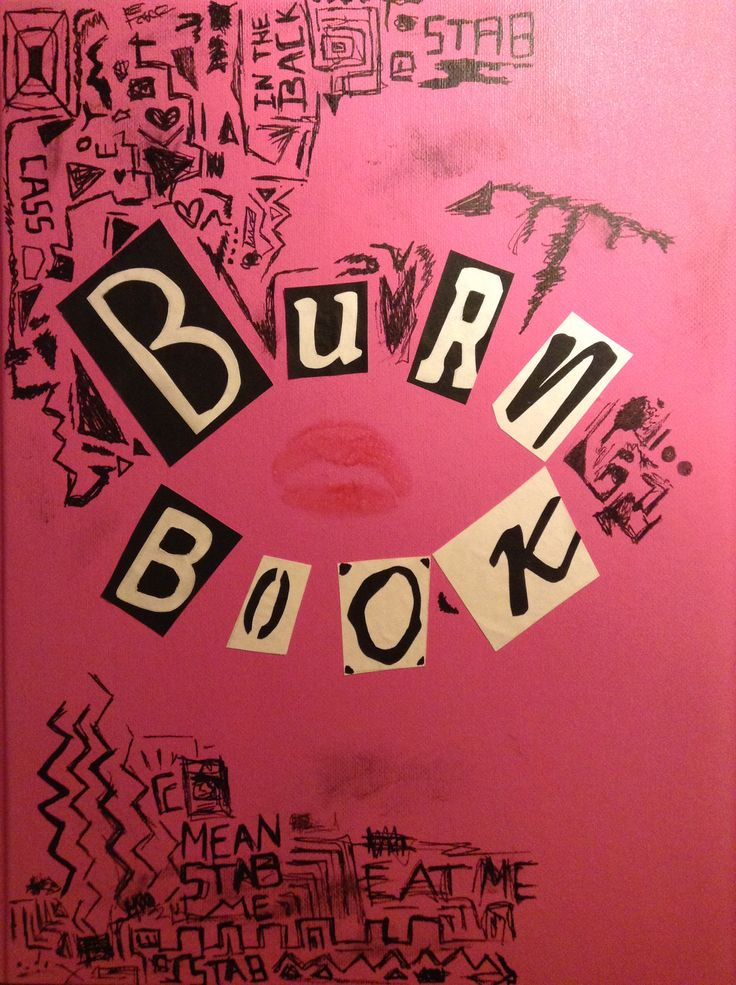 diy hand made burn book from mean girls  Crafts