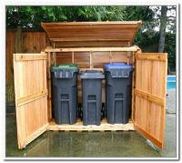 Trash Can Storage Outdoor | Outdoor trash bin storage ...