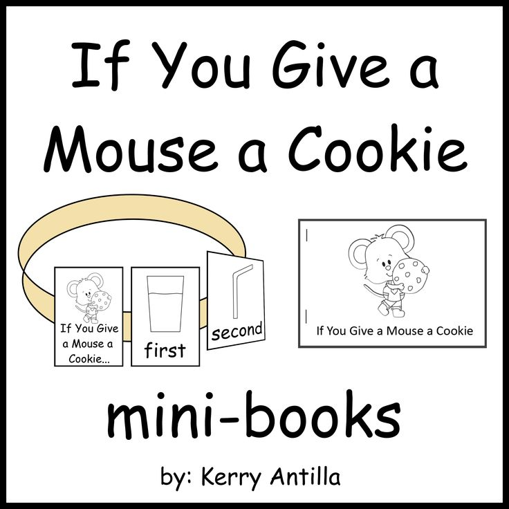 If You Give a Mouse a Cookie- 2 ordinal number mini-books
