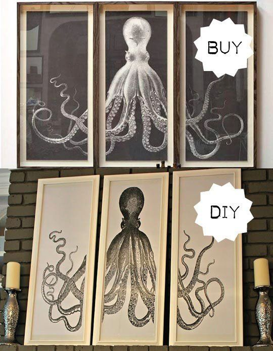 DIY Idea Octopus Triptych  The splits Graphics and Therapy