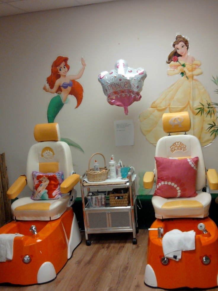 my princess spa chair find us on fACEbook tropical nails