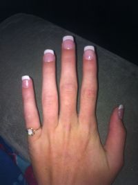 Short French tip acrylic nails ! | Nail Ideas! | Pinterest ...
