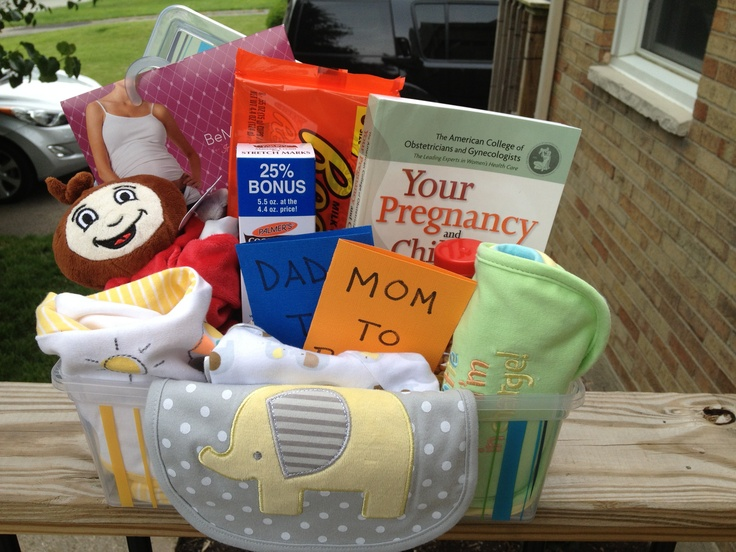 Mom to be gift basket to survive pregnancy great idea