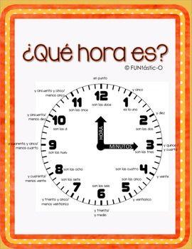 Best 25+ Time in spanish ideas on Pinterest