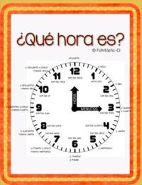 Best 25+ Time in spanish ideas on Pinterest