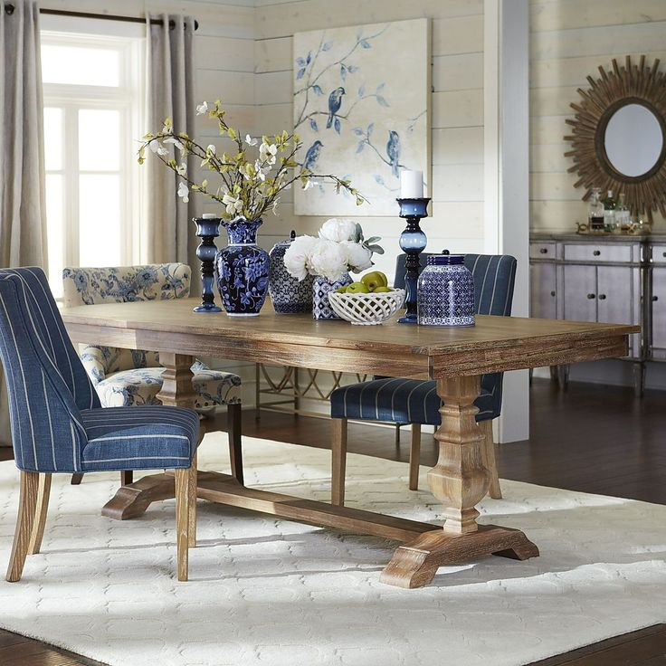 Natural Stonewash 84 Dining Table  Dining sets Natural