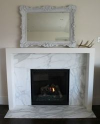modern fireplace surround, marble | fireplace | Pinterest ...