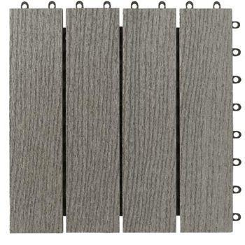 Simpli Deck Tiles Wood Plastic Composite Deck Tiles  DECK FURN  FLOORING  Pinterest  Tile