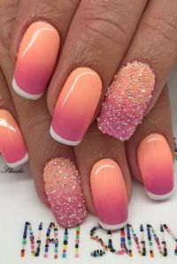 25+ best ideas about Summer french nails on Pinterest