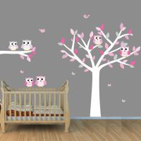 Owl Wall Art, Nursery Owl Wall Art, Owl Decal for Baby Boy ...