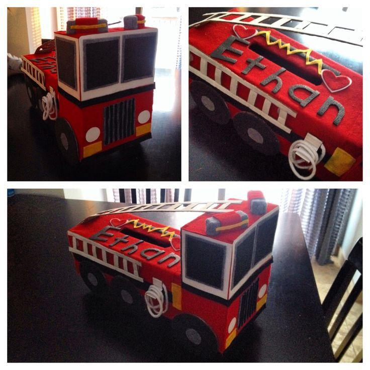 Fire Truck Valentines Box Google Search School Ideas