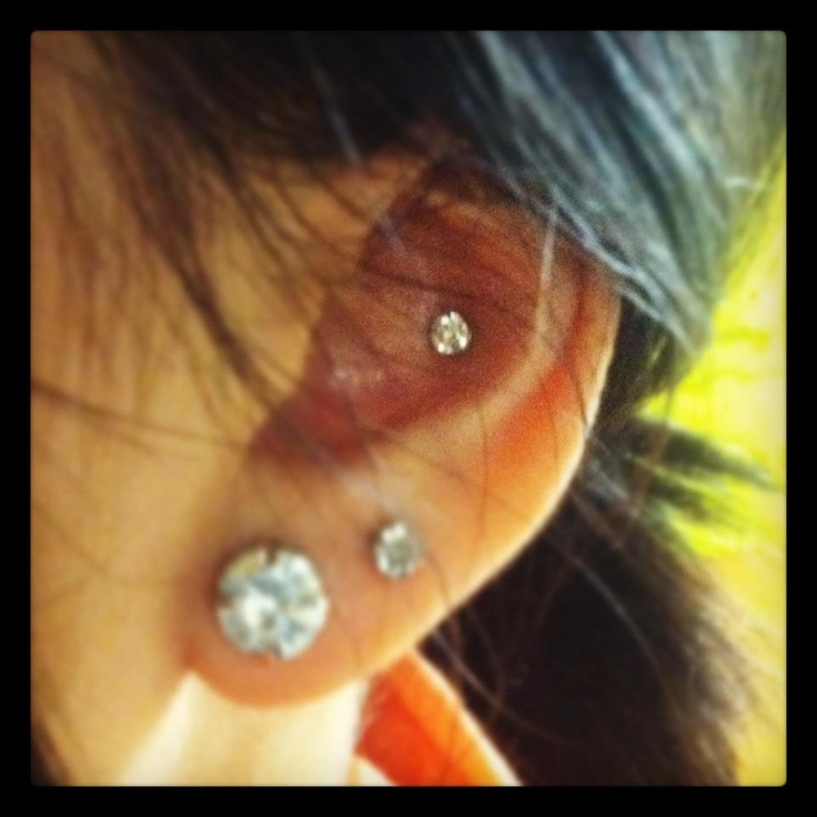 conch piercing diamond
