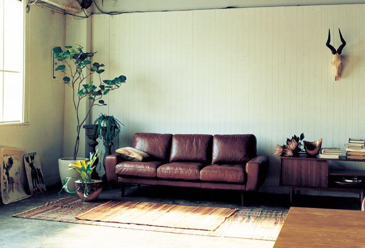 living room couch and chair ideas for lighting moln(モルン) レザーソファ 3シーター   インテリアショップ[unico]:家具/インテリア/ソファ/ラグ等 ...