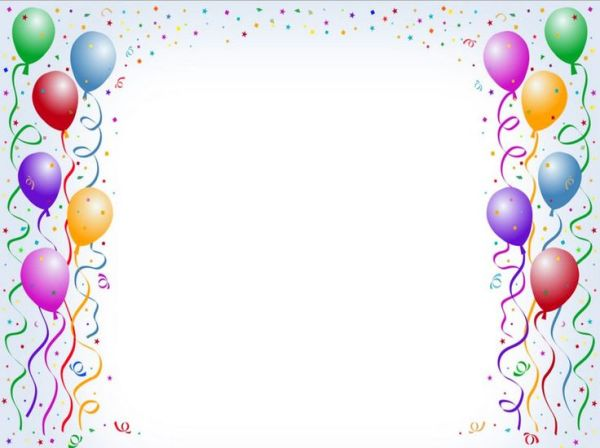 border design birthday greeting