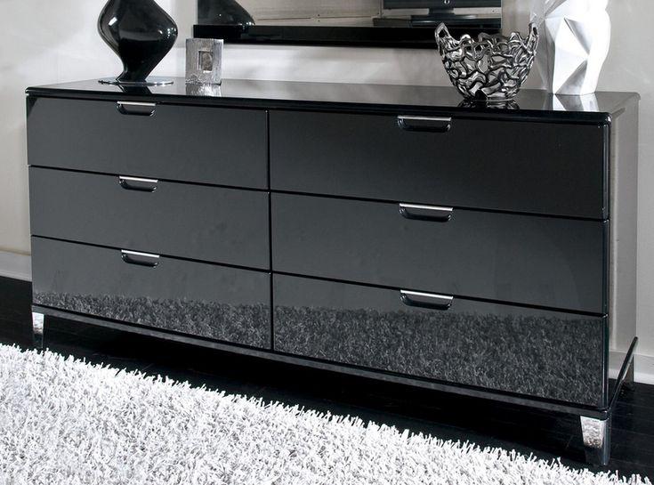 Black Glass Dresser  Black Dresser  Pinterest