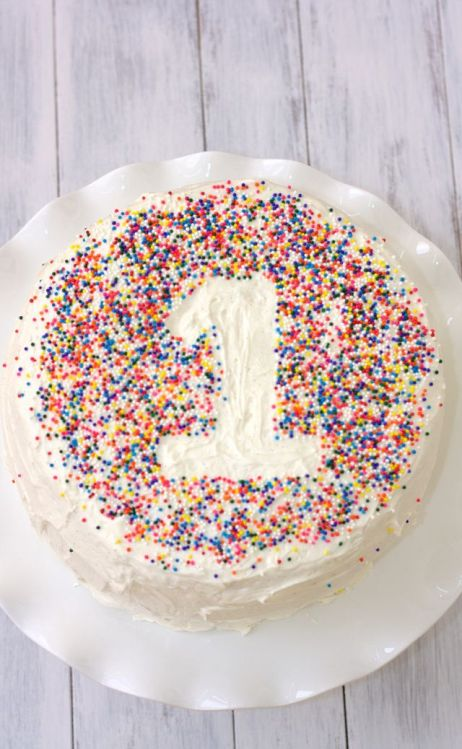 Easy Sprinkle number cake