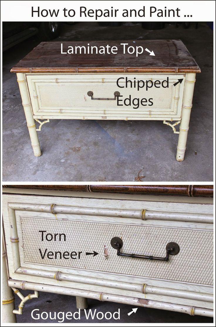How to repair and paint...Laminate Top...Torn Veneer | DIY ...