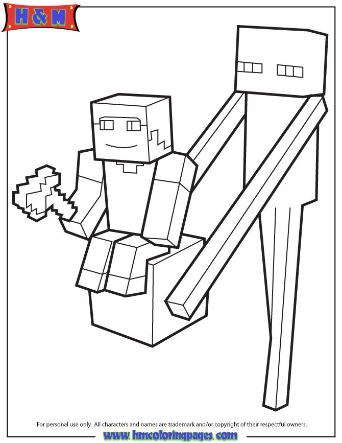 21 best images about Minecraft Coloring Pages on Pinterest