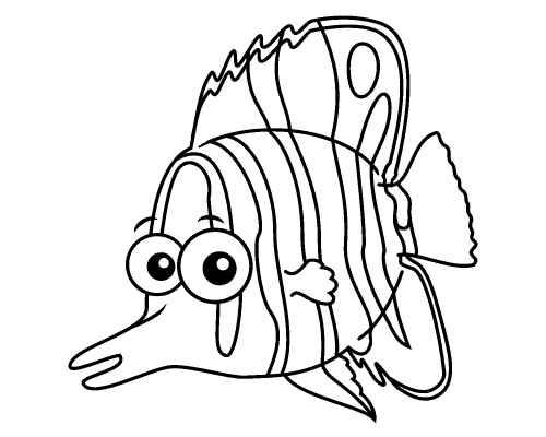 Clownfish Clipart Fish Coloring