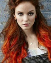 orange dip dye hair color