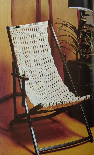 macrame lawn chair table chairs walmart elizabeth abernathy: seat for sling | research images pinterest inspiration ...
