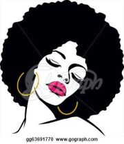 afro hair american woman vector