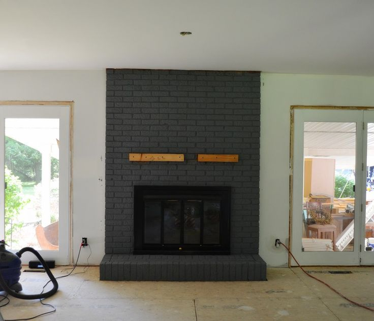 Fireplace Brick Paint Colors 17 Best Ideas About Black Brick Fireplace On Pinterest