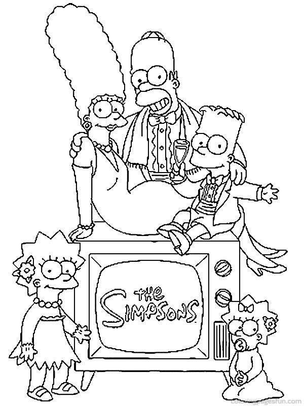 17 Best images about Bart and Family Coloring Page on