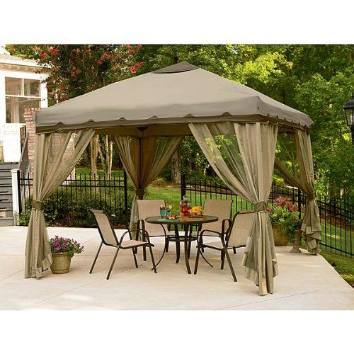 10 x 10 Portable Pop Up Gazebo Canopy With Mosquito
