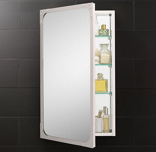 695  RH Industrial Rivet Medicine Cabinet Large Wall