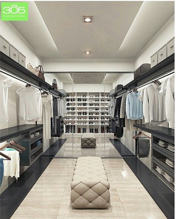 Great his and her closet  House Ideas  Pinterest  Master closet and Dressing room