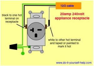wiring diagram for a 20 amp 240 volt receptacle | TOOLS