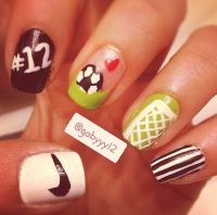 Soccer Nails | My Nails. | Pinterest | Nail art, Kid and ...