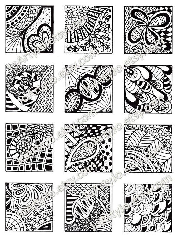 PDF Digital Collage Sheet Black And White Images