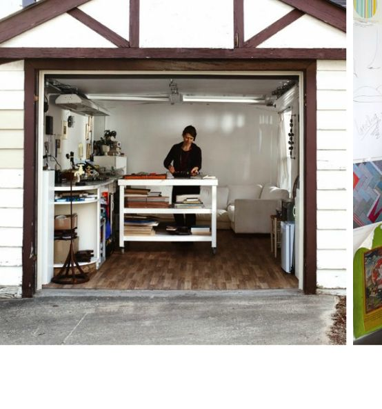 The ultimate woman cave converted garage into studio