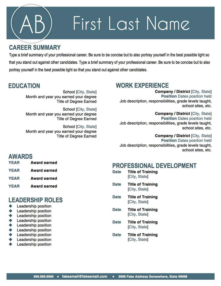 25 Creative Cv Templates That Will Make You Stand Out Simple
