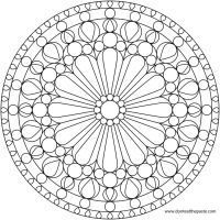 Flower Mandala Picture to Color, Stained Glass Window ...