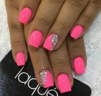 Best 25+ Hot pink nails ideas on Pinterest | Summer ...