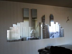 Nyc New york skyline and Wall mirrors on Pinterest