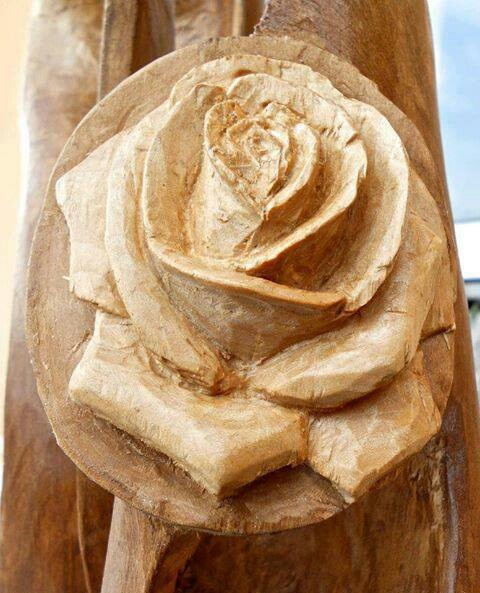 A Wood Rose Carving Wood Amp Ice Pinterest Woods And