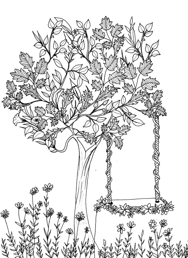 399 best images about ♣Adult Colouring~Trees~Leaves