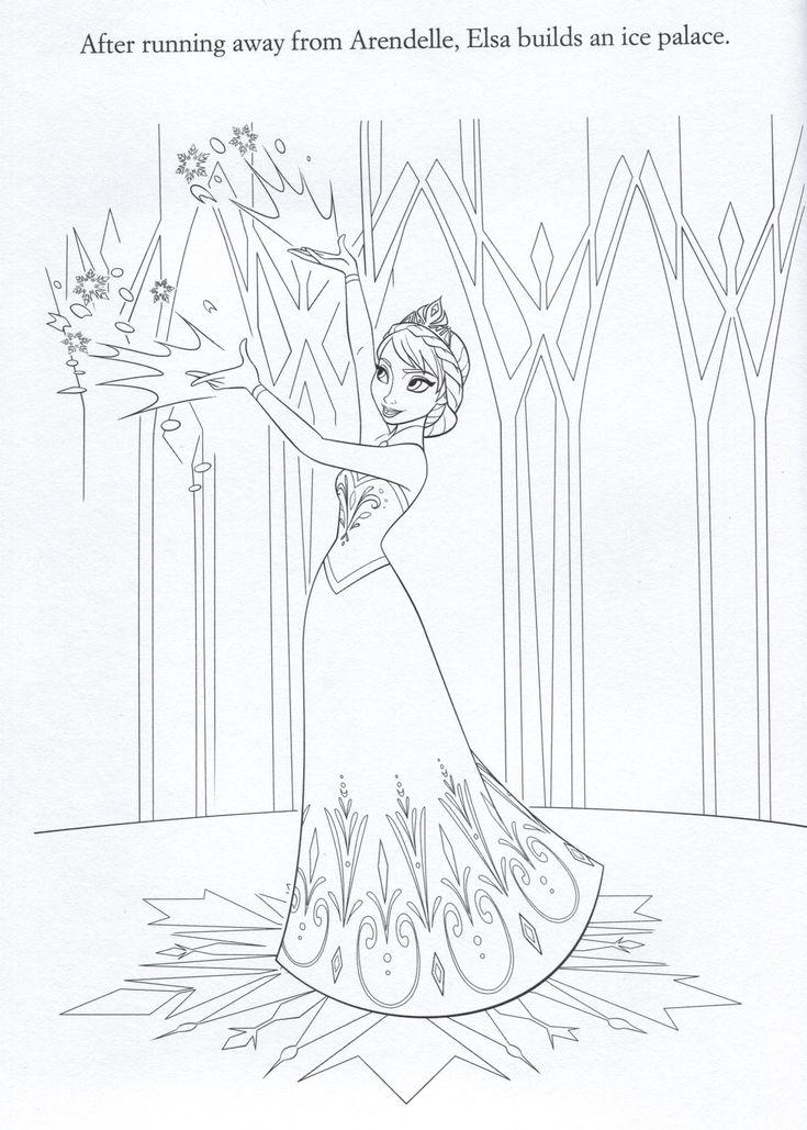 Elsas Castle Coloring Pages Sketch Coloring Page
