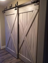 bypass sliding barn doors in mudroom | humble abode ...