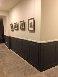 chair rail, picture frame moulding, dark grey