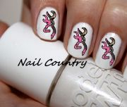 50pc country pink camo deer nail decals art nailcountry 3.99