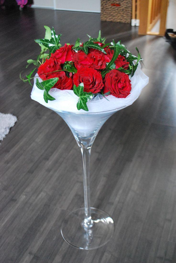 Dcors Blanc Et Rouge Composition Florale En Vase