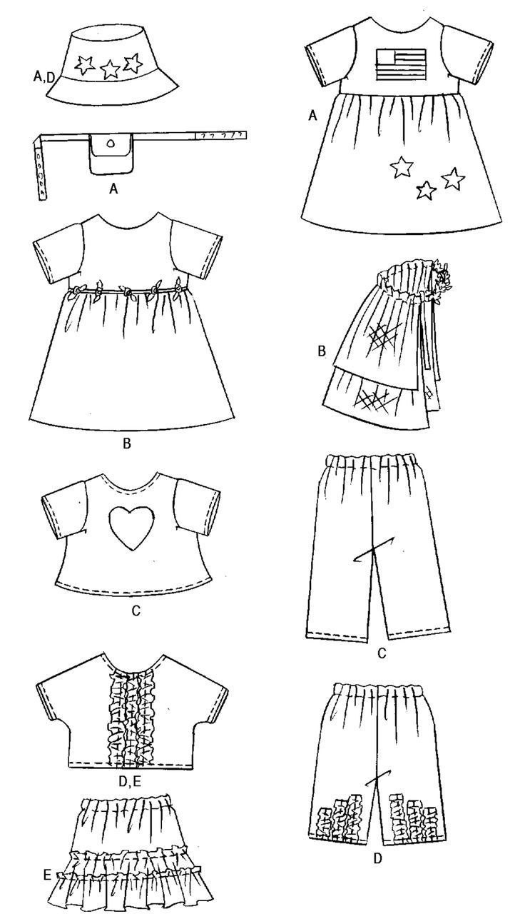 25+ best ideas about Doll clothes patterns on Pinterest