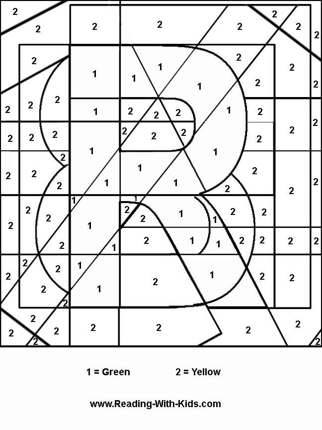 110 best images about Number colouring on Pinterest